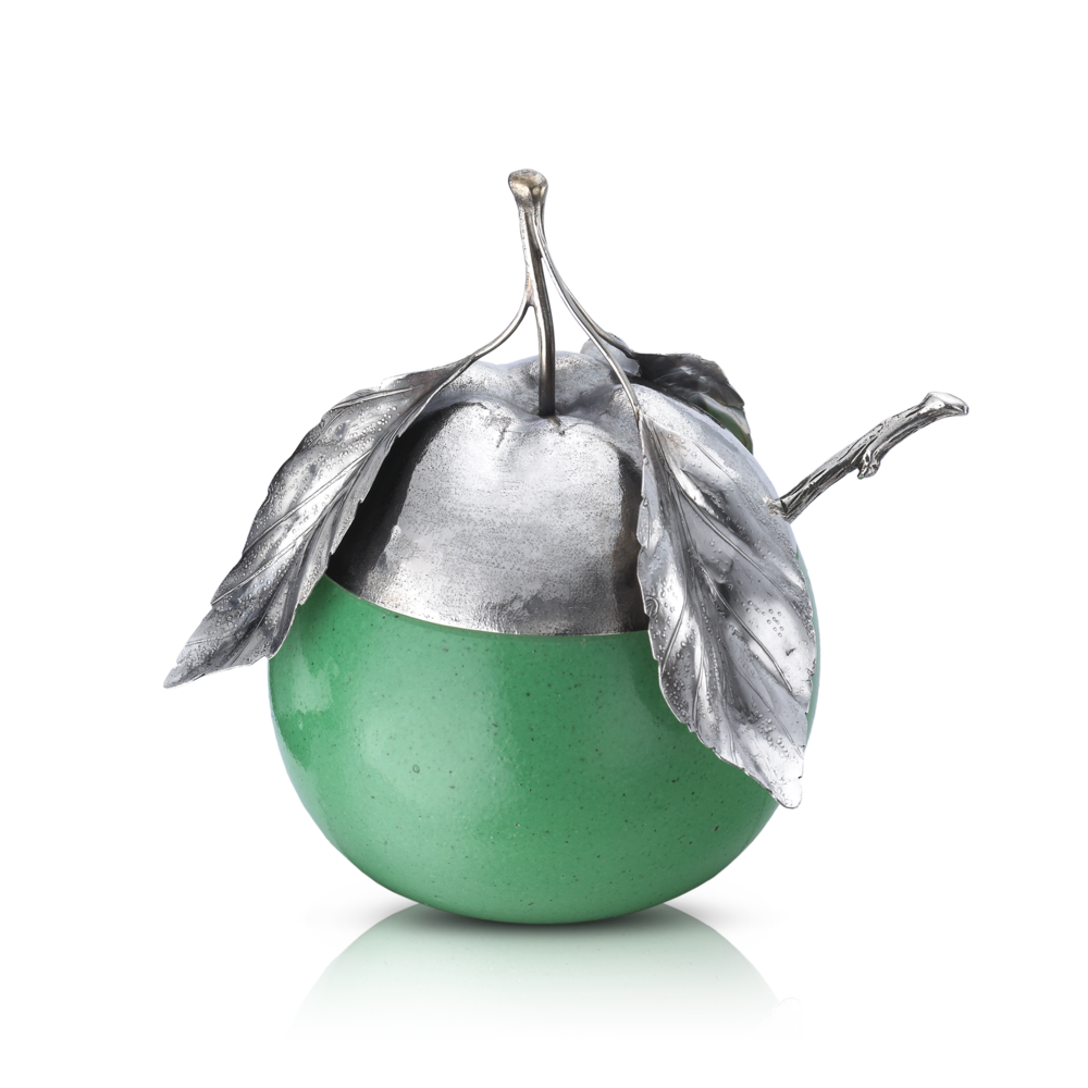 Buccellati - Table Accessories - Green Apple Jam Jar - Silver