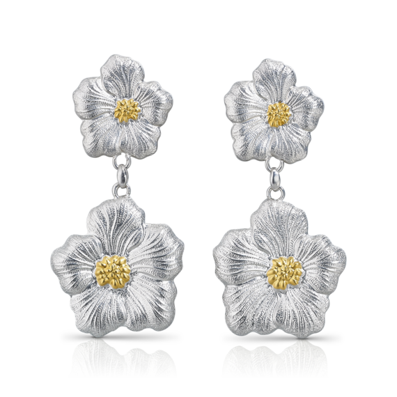 Buccellati - Earrings - Orecchini pendenti Gardenia - Jewelry