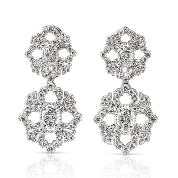Buccellati - Earrings - Opera Full Pavé Pendant Earrings - Jewelry