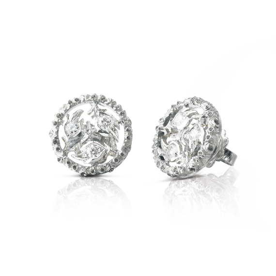 Buccellati - Earrings - Ramage Button Earrings - Jewelry