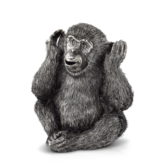Buccellati - Animals - Hear-no-evil Monkey - Silver